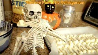 Skeleton White Chocolate Bones Kids How To Baking Recipe