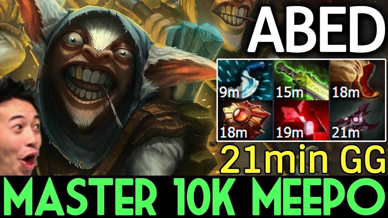 ABED Dota 2 7.07 [Meepo] Master 10k MMR - 21 min GG