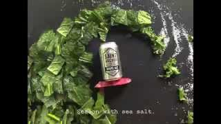 RIDING THE KALE STORM: How to Make Organic Kale Chips (Surfing Vegetable Stop Motion Animation)