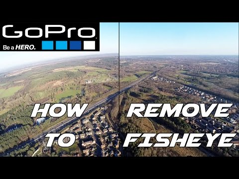 How To Remove Fisheye From GoPro Hero Video