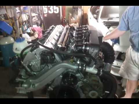 BMW M5  E34 Engine S38b38 Test Run On Stand Just For Fun