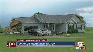 Storm damage in Wilmington, Ohio