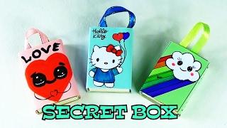 как сделать коробочку с секретом