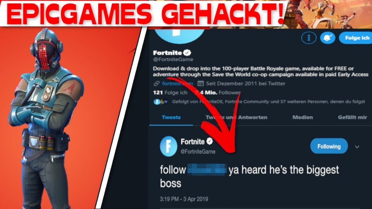 EPIC GAMES WIRD GEHACKT! | Fortnite Twitter Account ...