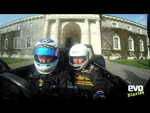 Caparo T1 passenger ride with Mika Hakkinen - evo Magazine