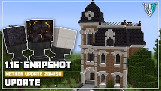 Minecraft Snapshot 1.16 20w15a - New Blocks - Blackstone Building Tips -  Victorian House