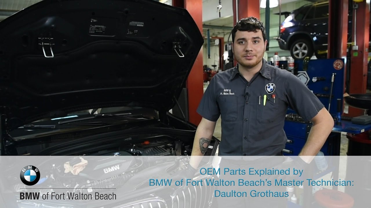 bmw of fort walton beach master technician daulton explains bmw oem parts youtube. Black Bedroom Furniture Sets. Home Design Ideas