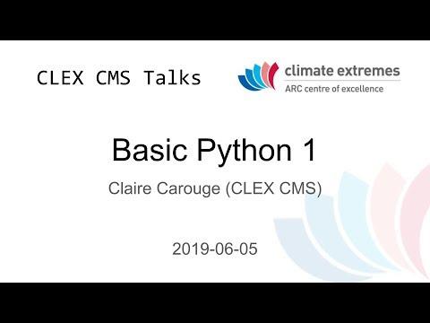CMS talks: Basic Python 1   CLEX