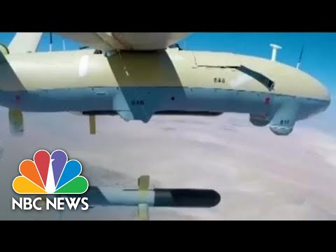 Tehran Hails Military Drill In Persian Gulf Featuring Iranian-Made Drones | NBC News