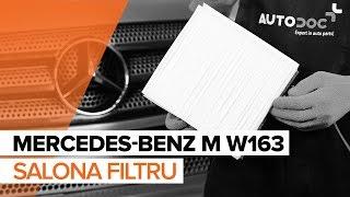 Salona filtrs uzstādīšana MERCEDES-BENZ M-CLASS (W163): bezmaksas video