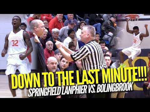 Karl Wright DOESN'T TAKE PLAYS OFF!!! Springfield Lanphier vs. Bolingbrook