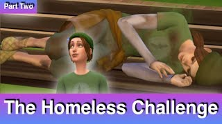 The Sims 4: Homeless Challenge // Stinking Up the City (Part 2)