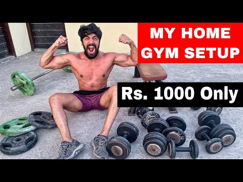 FINALLY - MY NEW HOME GYM SETUP ❤️ | Rohit Khatri Fitness