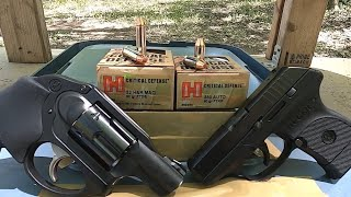 .32 H&R Magnum VS .380 ACP Critical Defense (LCR VS LCP)
