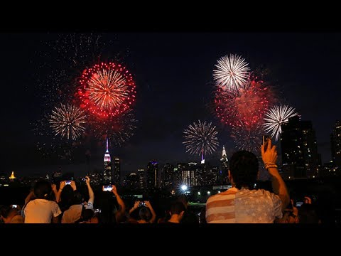 Fourth of July fireworks light up New York sky
