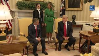 President Trump Meets with King Abdullah II