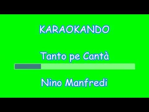 Karaoke Italiano - Tanto pe Cantà - Nino Manfredi ( Testo )