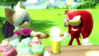 knuckles and rouge -  interactions in Sonic Games