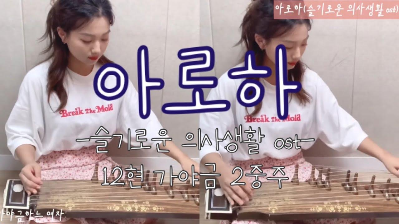 산조(12현) 가야금으로 #슬기로운의사생활 ost 연주하기-'#아로하' 너무 신나구~💃🏻 #조정석 은 너무 멋지구~