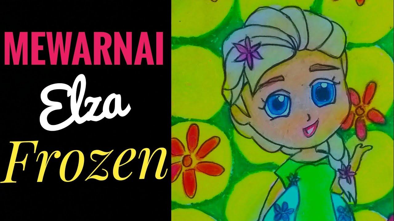 Belajar mewarnai gradasi gambar elza frozen   fairaart ...