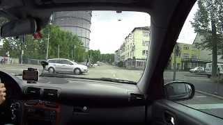Driving from Landhausstraβe to Mercedes-Benz Museum (Stuttgart-Baden-Württemberg) D , FullHD