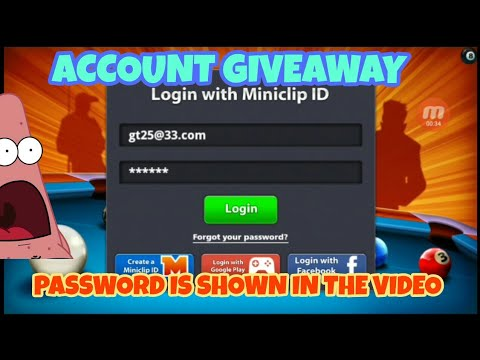 8 ball pool giveaway account 2019