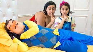 SARAH e a mamãe TENTANDO FAZER amizade com o HELLO NEIGHBOR