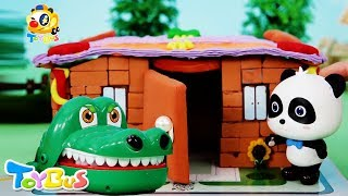 Panda Kiki Builds a Brick House | Super Panda Rescue Team | Three Little Pig | Bedtime Story |ToyBus