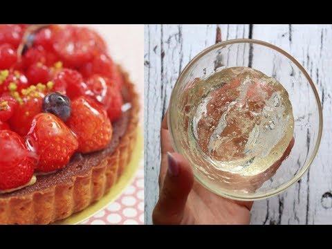 Как украсить торт желе в домашних условиях фото пошагово