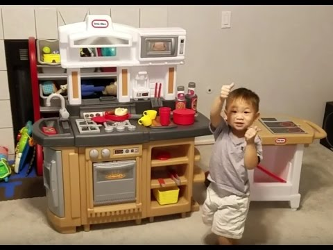 Unbox & Assemble Little Tikes Cook Around Kitchen & Cart Play Set ...