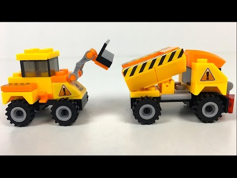 UNBOXING QLT KIDS FUN MIGHTY MACHINES WITH EXCAVATOR CEMENT MIXER DUMP TRUCK AND WHEEL LOADER