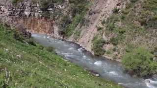 Waterfall, nature. Mountains. Kazakhstan. Казахстан, природа, горы, водопад.(, 2015-06-25T04:08:52.000Z)