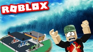SURVIVING A MASSIVE TIDAL WAVE!? Let es Play Roblox - Roblox Naturkatastrophe Überleben Gameplay