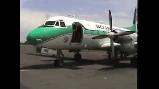 THE SIGHT & THE SOUND 3/6 : Bouraq Indonesia HS-748 PK-IHV inflight documentary from Bali to Lombok