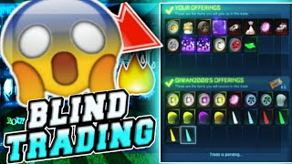"""""""OMG"""" BLIND TRADING, I GOT PURPLE LOOPER AND MORE ON ROCKET LEAGUE!! ALL UP FOR GRABS!!"""