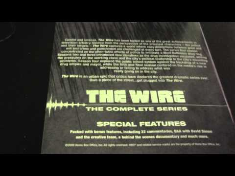 THE WIRE COMPLETE SERIES UNBOXING
