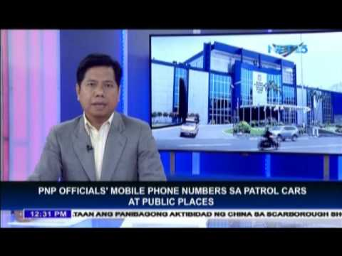PNP to place mobile phone numbers in public places