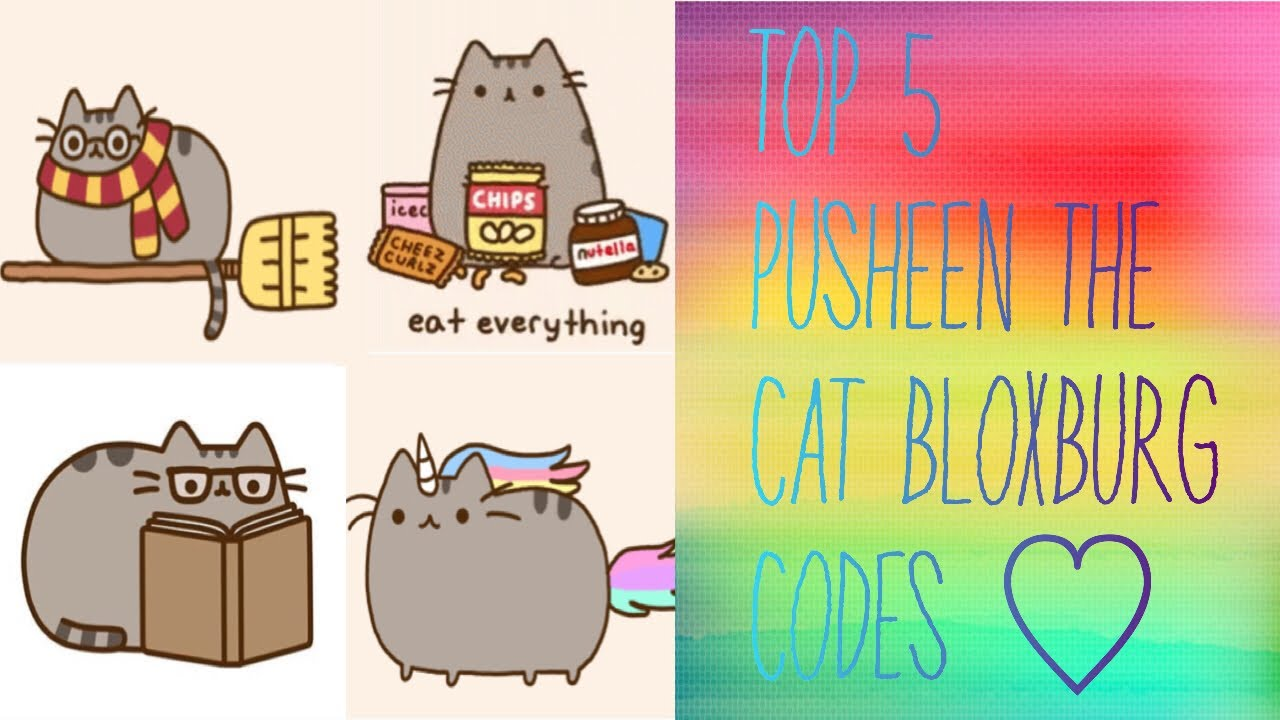 Roblox Decal Ids Cats Top 5 Pusheen The Cat Codes For Bloxburg Roblox Youtube