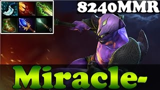 Dota 2 - Patch 6.86 : Miracle- 8240MMR Plays Faceless Void - Ranked Match Gameplay