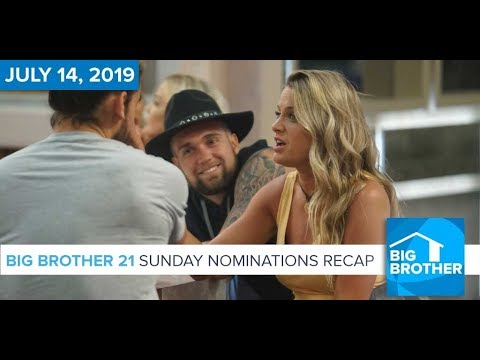 Big Brother 21 Sunday Night July 14 Nominations Recap #BB21 – Rob Has a Podcast