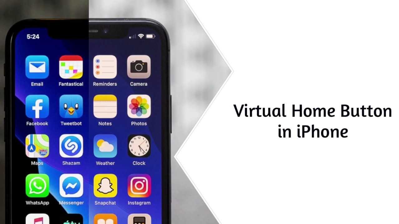 How to add a virtual home button in IPhone - YouTube