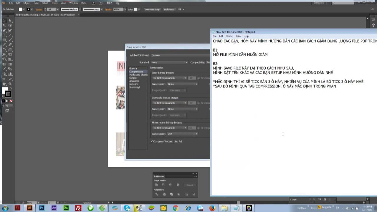 giảm dung lượng file pdf