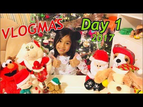 Vlogmas Day 1 2017 Elmo Stuffed Animal Christmas musical and Dingo!