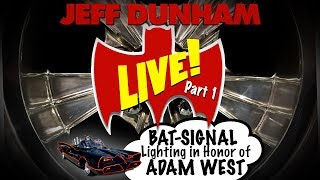 LIVE! BAT-SIGNAL lighting in honor of ADAM WEST Part 1 | JEFF DUNHAM thumbnail
