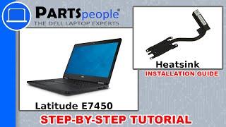 Dell Latitude E7450 CPU Heatsink Replacement Video Tutorial