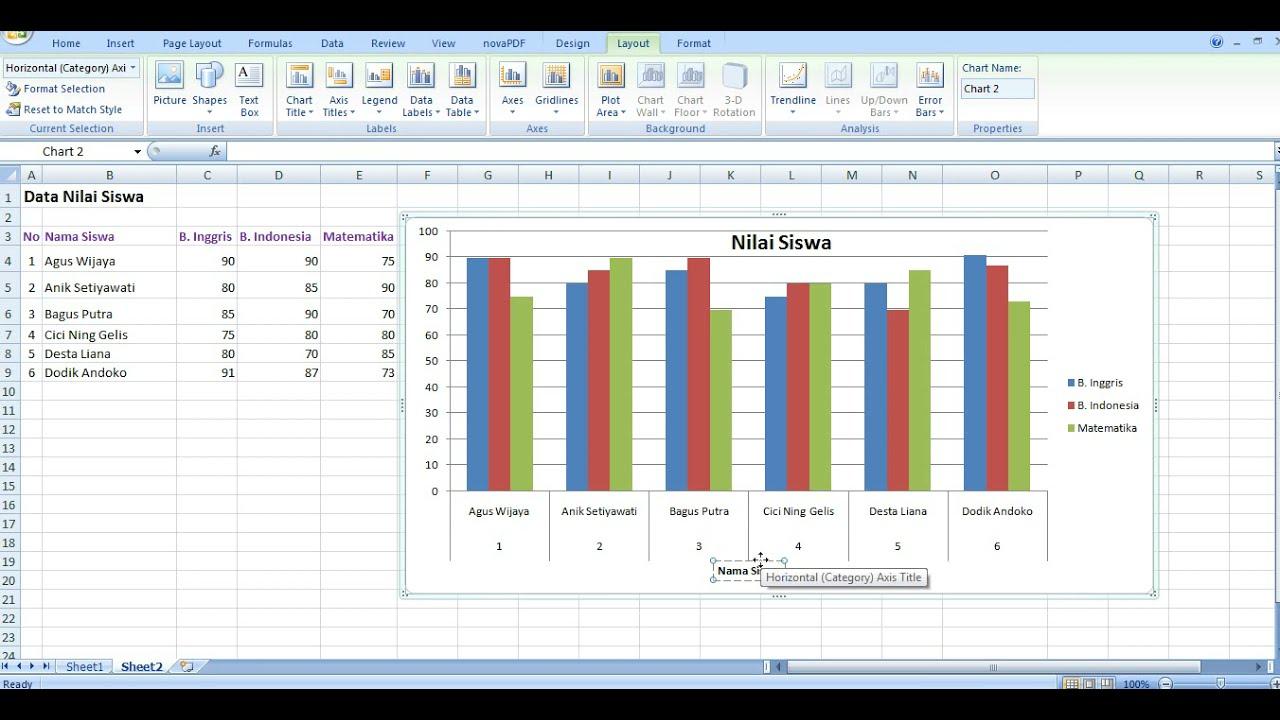 Cara Membuat Diagram Dan Grafik Di Excel