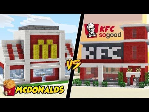 MCDONALDS VS KFC W MINECRAFT?! || GPLAY VS VITO MINECRAFT CHALLENGE!