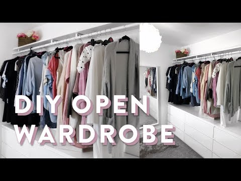 DIY IKEA Open Wardrobe | How To Wardrobe Organising