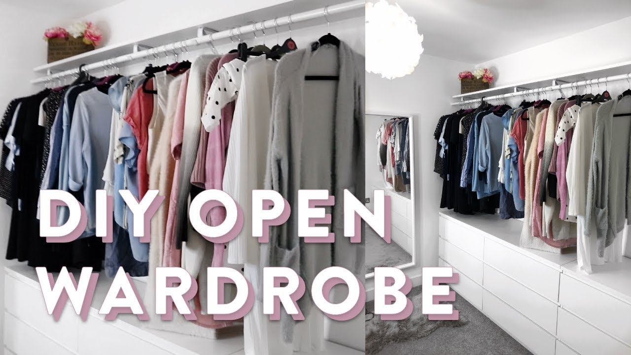 DIY IKEA Open Wardrobe   How To Wardrobe Organising