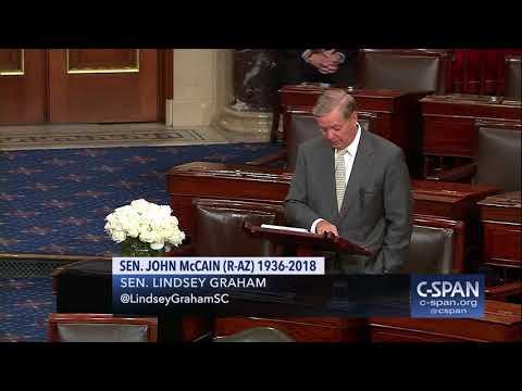 Sen. Lindsey Graham tribute to Sen. John McCain (C-SPAN)